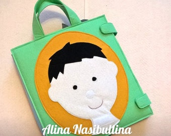 tablet, a clown, an educational tablet for children aged 1 year for girl and boy, gift, book, felt tablet