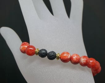 Red Glass Diffuser Bracelet