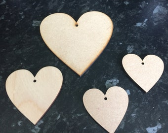 MDF HEART SETS ~ 3 options
