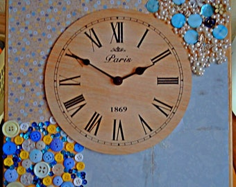 Hand decorated clock