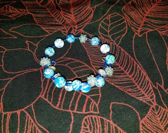 1 - Blue stone bangle bracelet