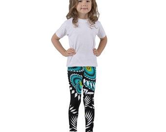 Abstract green flowers Kid's leggings