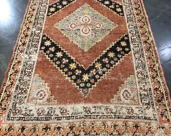 Antique Kashgar area rug