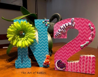 Individual wooden letters/numbers