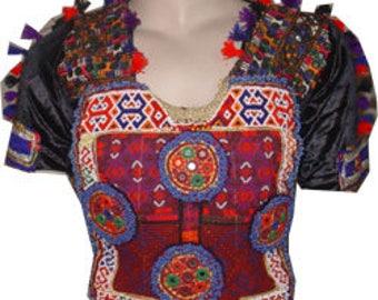 Burgundys& Red Banjara Gypsy Mirrored Choli Top