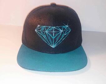 Millennium Green Diamond Snapback hat