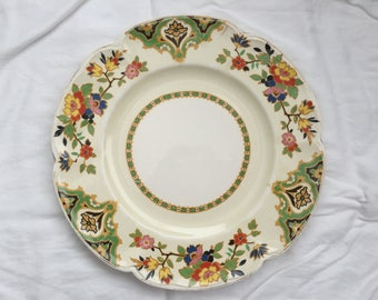 Vintage 1970s Pareek Johnson Brothers Floral China Plate 10""