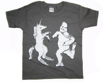 unicorn shirt, unicorn and yeti t-shirt, awesome unicorn shirt, cute yeti tshirt, unicorn and yeti design, fun design, free shipping