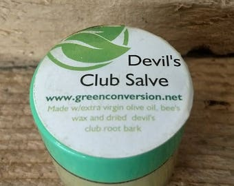 Devil's Club Healing Salve - Canadian Ginseng - Anti-inflammatory, Soothing Arthritis Pain Relief, Psoriasis - 20 ML Jar