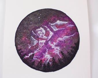 Night Sky Galaxy Watercolor - Original Artwork