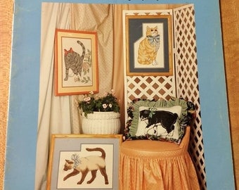 Holly's cats 2 cross stitch pattern book