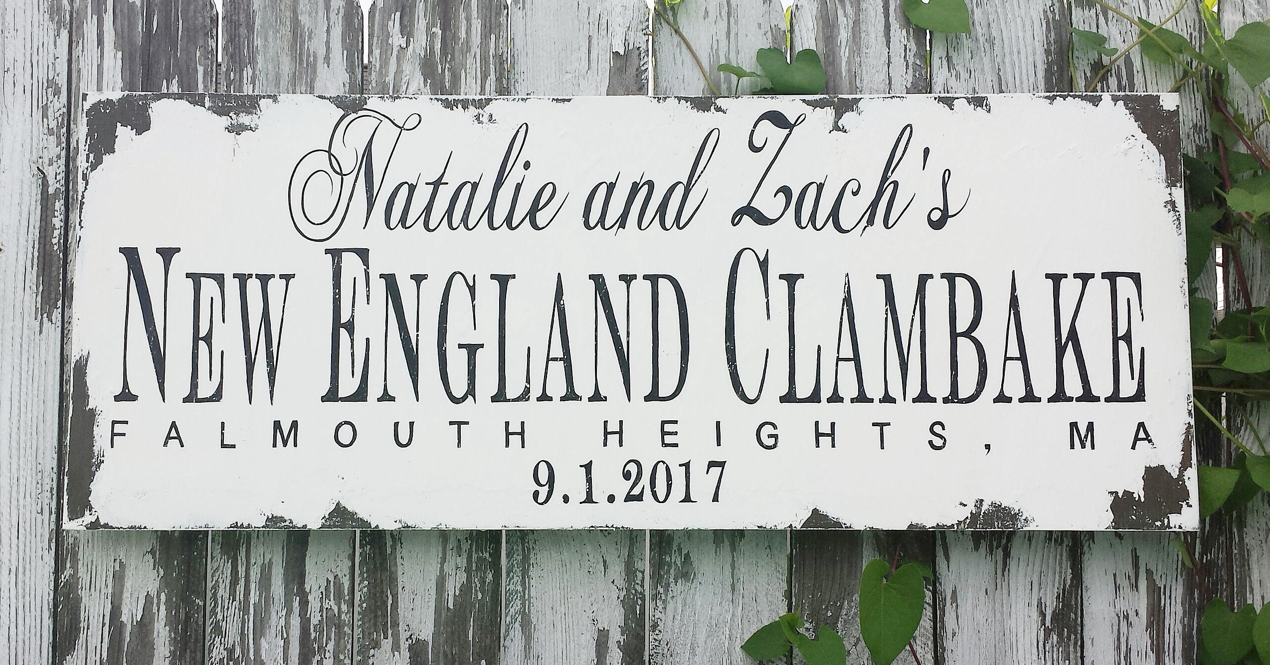 CLAMBAKE SIGN Personalized Wedding Sign Name Sign
