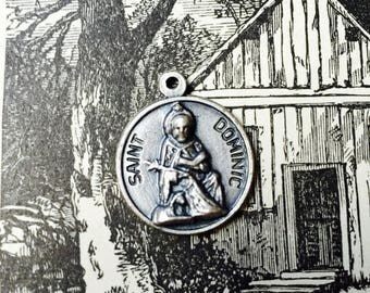 SALE SAINT DOMINIC Medal Vintage Religious Chapel Italy Patron of Astronomers