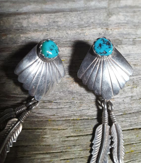 Native American Sterling and Turqouise Earrings