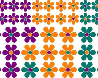 Hippy Flowers Vinyl Decal Stickers by Tonyabug Sticker Momma
