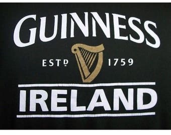 ReSeRVeD for: astahler998... Guinness IRELAND - UPCycled - T Shirt - Sweet and Simple  Feminine -- BodySuit- one Piece HANDMADE eco Fashion