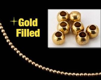 3mm Gold Filled Round Bead #BGB001