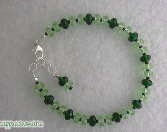 Going Green - beaded bracelet