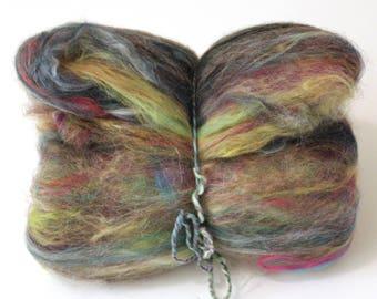 Carded Batt Variety of Wool Camel and Silks 100g OOAK15