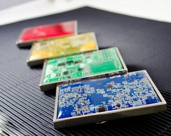 Circuit Board Belt Buckle LARGE, CHOOSE COLOR, Computer Engineer Gift, Geeky Belt Buckle, Industrial Belt Buckle, Techie Gift, Nerdy Gift