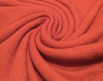 Spandex Ribbed Knit Jersey Fabric 1-1/2  Yard