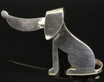 Vintage! Sterling Silver Beaucraft Dog Brooch