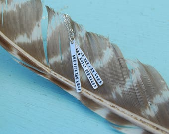 She Took the Leap and Built Her Wings on the Way Down Quote Necklace Inspired Pendant Handcrafted by Chocolate and Steel eco-friendly