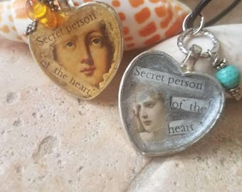 Secret person of the heart necklace
