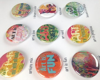 Artist Magnets, choose from 9 designs, 1.25 in, by Jenlo