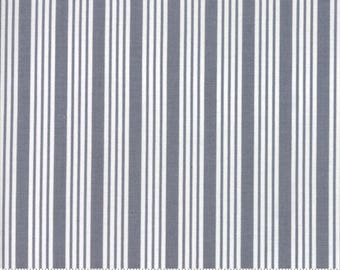The Good Life - Stripe in Charcoal Gray: sku 55157-17 cotton quilting fabric by Bonnie and Camille for Moda Fabrics