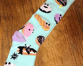 Animated Donut knee hi sock  by im.butterflycreations