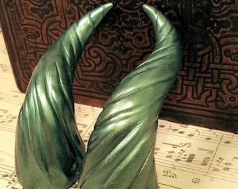 ON SALE Forest Green Dragon Costume Horns - Made to Order