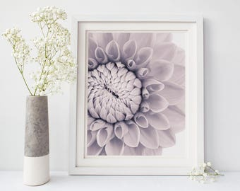 Black and White Print, Large Wall Art, Black and White Photography, Dahlia Flower Art Print, Floral Wall Art, Flower Photography Print