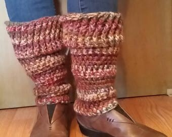 Crocheted Wool Leg Warmers  Leggings fall/winter colors