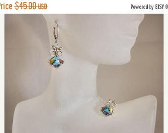 Moving Sale 40% Off Sterling Silver Abstract Multi-Color gemstone Earrings, Blue, Purple, Green, Yellow, Red, Black