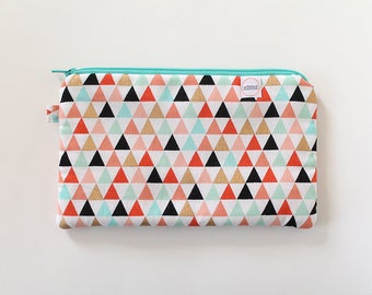 zipper pouch, cash envelope, Eyeglass case, Pen pencil, cash wallet, Cosmetic makeup case, Coral, bag, sunglasses case, Teal purse, gold