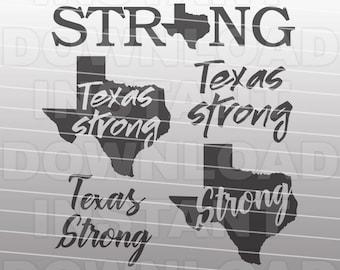 Texas Strong SVG File,Hurricane Harvey SVG,Fundraising Design svg -Commercial & Personal Use- Vector Art svg for Cricut,Silhouette,Vinyl Cut