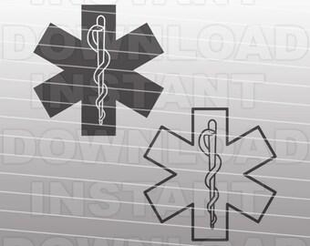 EMT Symbol SVG File, Medical Symbol SVG - Vector Art - Commercial & Personal Use - svg file for Cricut,svg file for Silhouette,vinyl cutting