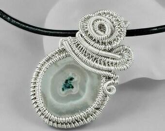 SALE - Solar Quartz and Sterling Silver Necklace