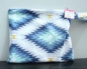 Wet Bag wetbag Diaper Bag ICKY Bag wet proof blue aztex gym bag swim cloth diaper accessories zipper gift newborn baby kids beach bag