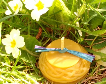Pure Beeswax Celtic design Candle / Handmade Candle / Candle Gift