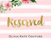 Reserved for Alex Flower Girl Dress RO