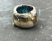 Raku Pod Ceramic Cabochon MAKU Raku Jewelry Supply Handmade by MAKUstudio #1