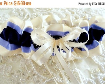 On Sale Purple Ivory & Lavender Satin Garter-Purple Wedding-Lavender Wedding-Bachelorette Party-Maid's Gift-1- Fits 14 - 20 inches