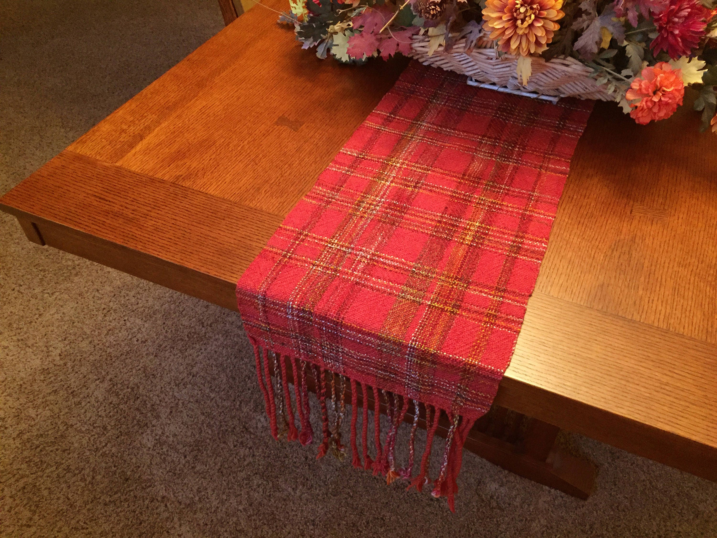 Autumn Table Runner Hand Woven Thanksgiving Runner Fall Table