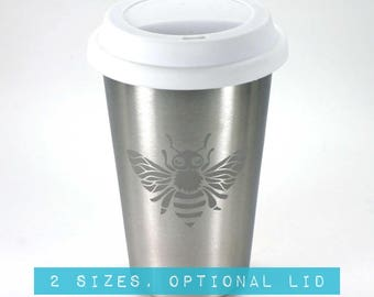 Bee Stainless Steel Tumbler - Choose your size