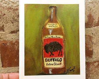Buffalo Greeting Card - Buffalo Stout - Beer Art - Blank Card - Buffalo Greeting Card - Buffalo NY - Buffalove - Beer Greeting Card