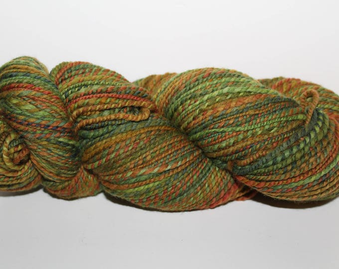 Handspun Merino Wool Yarn.  2ply Sport Weight. Kettle Dyed. Super Fine Merino. 4oz 328yards