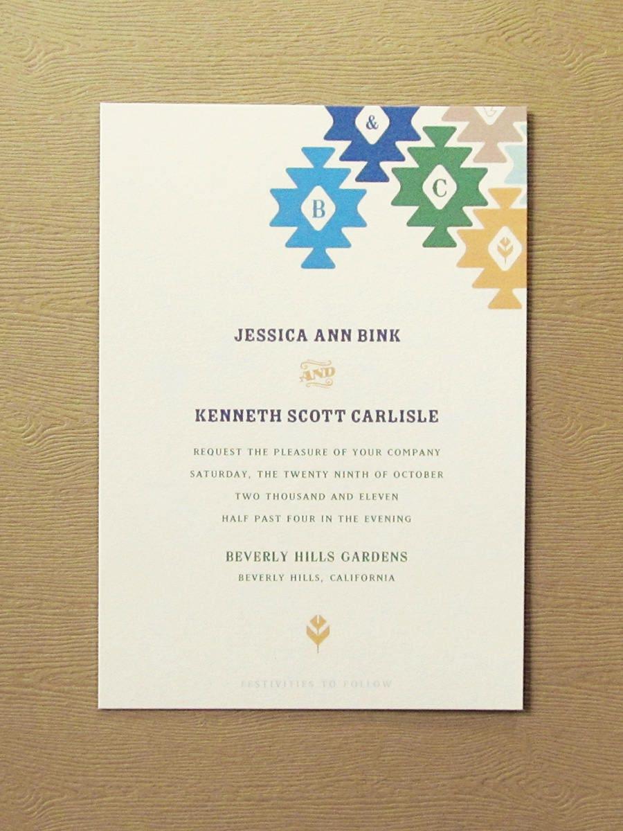 Cathe?a Mohave Inspired Western Desert wedding invitation, western ...