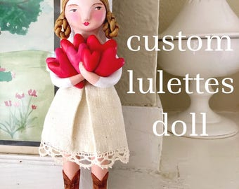 custom lulettes doll made to order